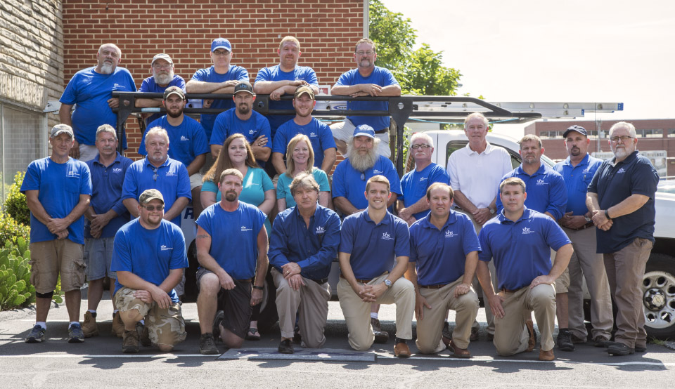 A group photo of VBS employees