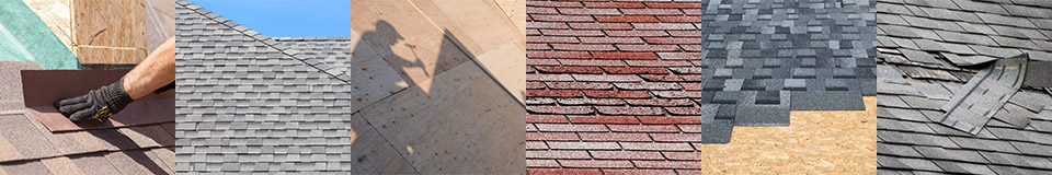 A collage of roofing projects